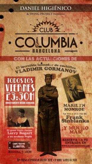 CARTEL DEFINITIVO CLUB COLUMBIA