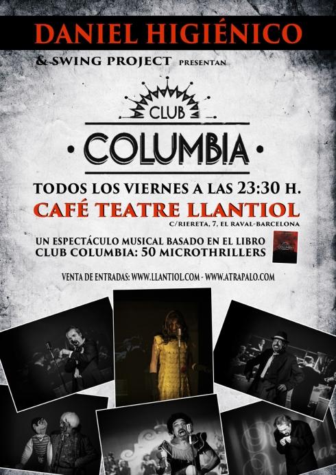cartel CLUB COLUMBIA baja