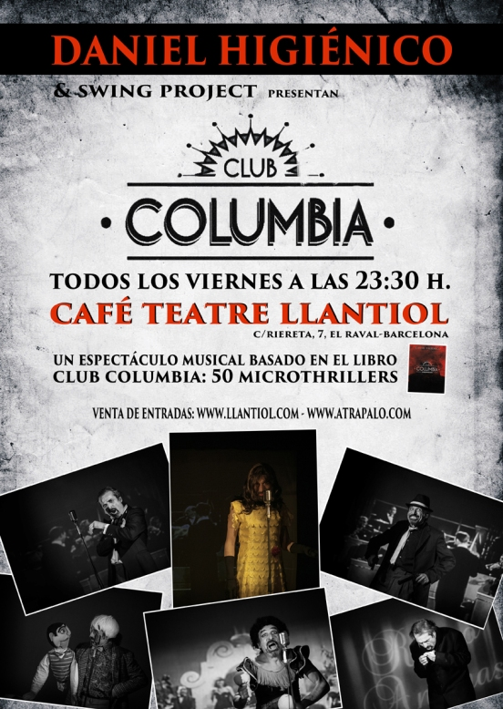 cartel CLUB COLUMBIA baja